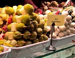 Olives (San Miguel Market, Madrid) (marcpomerol) Tags: food olives olivas banderillas