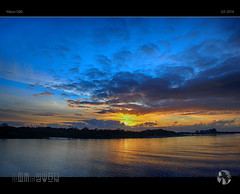 River Sunset II (tomraven) Tags: sunset sky sun water clouds reflections river nikon bullerriver d80 tomraven aravenimage q32016