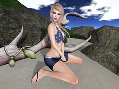 Driftwood (Kat the Desert Girl) Tags: hair necklace secondlife flipflops oleander illi fiftylindenfriday fifty5thursdays krystalfinejewelry brahamdesign