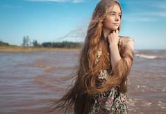 The Sea, She's My Companion (davebrosha) Tags: red summer portrait hair nadia photoshoot creative redhead portraiture princeedwardisland pei davebroshaphotography