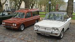1967 HILLMAN HUSKY ESTATE  - 1968 SUNBEAM STILETTO (shagracer) Tags: classic cars car husky estate group singer vehicle british chrysler van stiletto imp sunbeam hillman rootes llj827f pap532f