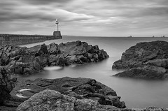 "Aberdeen Breakwater  sfx (""Mr Mike"") Tags: longexposure sea seascape scotland blackwhite aberdeenshire scottish aberdeen tamron breakwater d90 mrmike tamron1750f28 nd110 1750f28 tenstop"