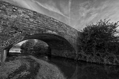 IMG_8829_HDR BW (ijw77) Tags: bridge sky blackandwhite canal hdr towpath