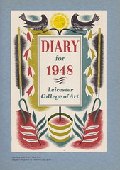 Leicester College of Art - specimen pages from a diary for 1948 (mikeyashworth) Tags: 1948 graphicart typography graphicdesign leicester printing lettering typeface leicestercollegeofart mikeashworthcollection diary1948 diarytitlepage