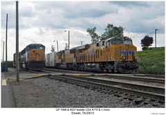 UP 7498 & 4357 beside CSX 4770 & 1 more (Robert W. Thomson) Tags: railroad up train diesel tennessee railway trains unionpacific locomotive trainengine ge csx etowah emd gevo sd70 sd70m sd70mac es44ac c45accte es44 evolutionseries sixaxle