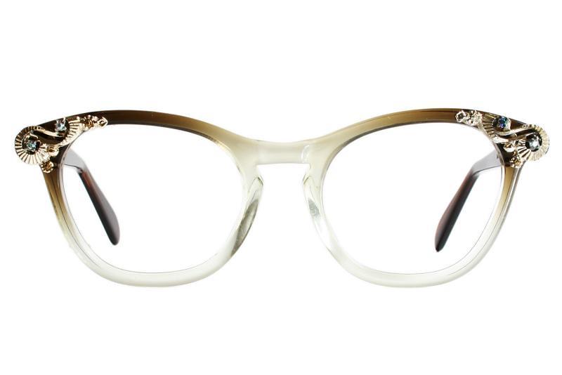 bb7c00a4b1e Brown Romco Cat Eye Glasses (Vintage Cat Eye Glasses) Tags  sunglasses  vintage womens