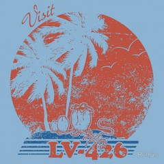 Visit LV-426 (ShirtRater) Tags: cinema film face shirt movie t alien tshirt movies predator terrestrial invasion extra tees xenomorph hugger