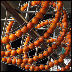 sculptural juicing (foto.phrend) Tags: sculpture london square juicy circles sphere oranges 500d 2013