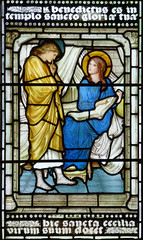 Christ Church Cathedral, Oxford (jacquemart) Tags: window stainedglass oxford annunciation christchurchcathedral the burnejones