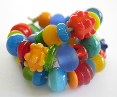 Bright Lampwork Beads SRA (Beth Singleton) Tags: carnival party glass beads bright handmade lampwork sra funandfunky bethsingleton