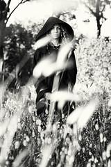 Parsifal (Oliver Astrologo) Tags: wild portrait bw woman green nature girl fashion forest blackwhite model pretty posing bianconero biancoenero blackhabit