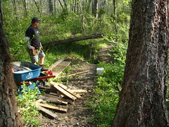 Trail work - Small bridge install