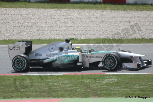 Nico Rosberg in the 2013 Spanish Grand Prix