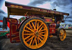 Andrew Cook and Sons  Leven   - Steam Engine - Errol Airfield  Tayside Scotland (Magdalen Green Photography) Tags: vintage scotland cool dundee vibrant scottish tayside hdr steamrally 0602 vintagesteamrally stationaryengines precisionengineering steamvehicles iaingordon magdalengreenphotography errolairfield scottishtractionenginesociety