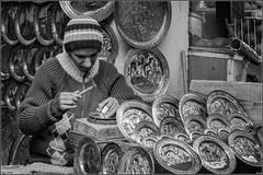 Tunis's Souk (bouhbouh) Tags: bw white black blackwhite noir tunis nb souk blanc postworked tunisie noirblanc
