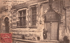 130. Tours - Maison de Tristan (c.1906) (pellethepoet) Tags: door boy france architecture europe child postcard photograph knocker tours enfant garçon cartepostale cartespostalesanciennes postallyused stampintact maisondetristanlhermite maisondetristan ruebriçonnet