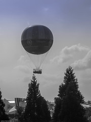The Balloon in Black and White (k009034) Tags: travel trees sky blackandwhite white black paris beautiful lumix photography disneyland balloon disney panasonic themepark disneylandparis funpark disneylandresortparis disneylandresort beautifulearth