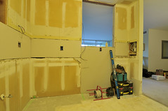 Drywall Installation:  east view (funston) Tags: kitchen drywall renovation remodel condominium homeimprovement homeremodel kitchenremodel