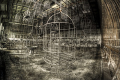 Among the cages (NARIBIS) Tags: abandoned buildings decay tokina1224 creepy forgotten canon350d derelict hdr decayed abandonned urbex abandonné lostplaces sigmafisheye canon40d naribis