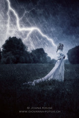 thunderstorm (Ticino-Joana) Tags: flowers blue woman storm flower nature girl grass female night vintage dark outside outdoors person evening scary gloomy dress lawn young longhair meadow eerie creepy blond bolt romantic bleak thunderstorm wildflowers lightning shawl elegant tempest wildflower stole elegance caucasian