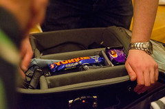 Stephen's off to Canada (Sean_Smyth) Tags: ireland chocolate packing watch suitcase thisisdublin