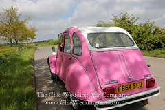 Rosie in the country-5 (magicalnights) Tags: pink wedding car derbyshire 2cv chic weddingcar shabbychicwedding sexyweddingcar 2cvweddingcar derbyweddingcars