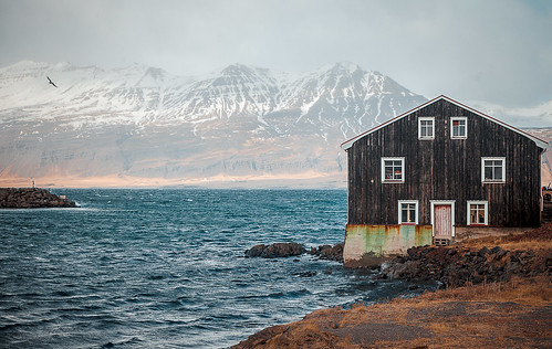 Iceland - old building in the harbor