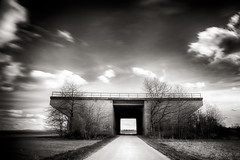 SoDa-Bridge (gambajo) Tags: longexposure bridge white black art dark deutschland natur dramatic himmel nordrheinwestfalen brcken langzeitbelichtung euskirchen bauwerke