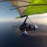 Kim flies us over Arran
