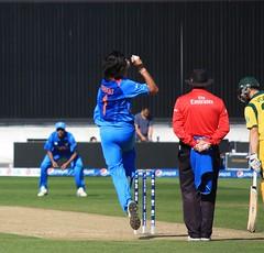 Ishant Sharma (India) bowls