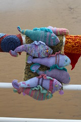 Knitted Fish Shoal (Munki Munki) Tags: summer fish beach wool pier seaside knitting handmade cleveland publicart knitted shoal saltburn seasidefestival yarnbombers