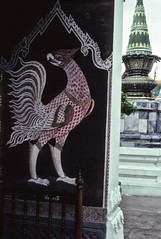 Bird figure, Wat Phra Keo temple, Bangkok (1982) (Duncan+Gladys) Tags: thailand bangkok enhanced th