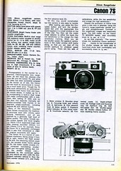 Canon 7S 1970 (Nesster) Tags: camera canon december ad rangefinder advertisement advert presentation guide 1970 summary modernphotography