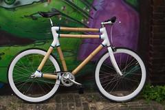 Berlin Bamboo Bike (sterreich_ungern) Tags: berlin art bike bicycle wooden construction unique bamboo fahrrad bambus lightweight bambuseae nachhaltig