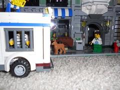 7.14.2013 Lego Scene 2 Part 3 (Legodude:)277) Tags: dog lego scene crime prisoner robber minifigures