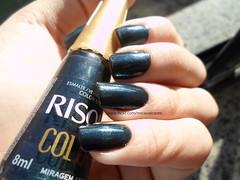 Risque • Miragem Azul (Mica Cavalcante) Tags: azul hand nails nailpolish unhas risque nailenamel esmalte naillacquer verniz vernisaongles miragemazul collorefect