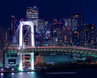Rainbow Bridge and Roppongi Hills Night Shot