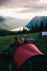 Out of reception (OSTERMAN ANZE) Tags: camping friends sunset summer lake mountains nature tent slovenia canon5d sigma35mm anzeosterman campvibes