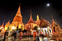Wat pra kaew Grand palace at night bangkok,Thailand (Assawin Ritter Knight.) Tags: old city travel roof people urban building tower art heritage history tourism architecture night thailand temple gold golden pagoda ancient asia exterior bangkok buddha traditional famous religion pray decoration culture royal siamese kingdom buddhism grand palace tourist structure historic east monastery thai spirituality ornate wat majestic vacations emerald ethnicity
