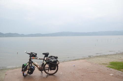 Cycling around Lake Bosomtwe, Ghana