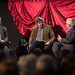 Philip Hensher, Stephen Fry and Norman Lebrecht at the Verdi vs Wagner debate as part of Stephen Fry's Deloitte Ignite © Intelligence Squared