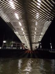 Under pass (Nekoglyph) Tags: bridge water metal night docks river dark bristol lights under rowing boattrip avon