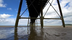 Below Queen's (dangerousdavecarper) Tags: sea man coast pier perspective queens isle ramsey