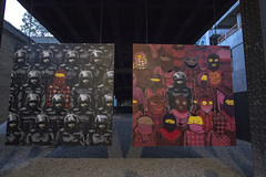 The Paintings (alxmlkv) Tags: new york city nyc newyorkcity english out graffiti paint chelsea gallery paintings banksy os canvas than brazilian better collaboration gemeos osgemeos betteroutthanin