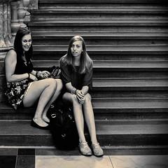 Looking (CorH) Tags: street city portrait people urban blackandwhite bw white black monochrome blackwhite belgium belgie candid streetphotography antwerp antwerpen straatfotografie corh