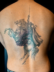 Mask of Zorro (tifanatattoo) Tags: horse tattoo tokyo design image backpiece     maskofzorro