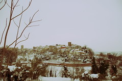 lanciano (atonoflove :3) Tags: old trees winter italy snow cold town hill medieval crossprocessing oldtown lanciano