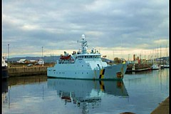 Scotland Greenock Scottish fishery protection ship Minna leaving port going on patrol 21 Nov 2013 video by Anne MacKay (Anne MacKay images of interest & wonder) Tags: nov by port leaving anne scotland greenock video ship 21 scottish mackay minna protection fishery 2013