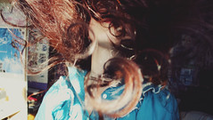 (Elizabeth Dobrzanski) Tags: sunlight selfportrait girl up bedroom triangle experimental turquoise room creative victorian curls sunny auburn curly photograph expressionism brunette sunray selfie hairflip lightwarm hairinmotion elizabethdobrzanski vision:outdoor=0737
