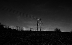Apocalypse (Ben F McManus) Tags: nottingham light shadow england sky blackandwhite bw film field 35mm dark dismal apocalypse gloom